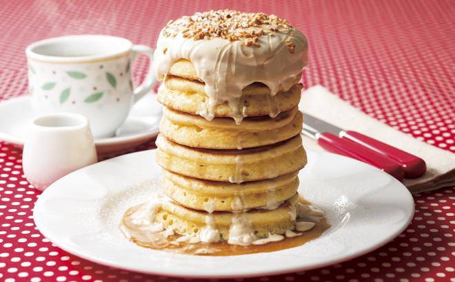 デニーズの「タワーパンケーキ」の破壊力が強い。